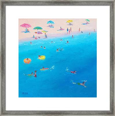 Happy Days At The Seaside Framed Print by Jan Matson
