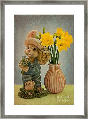 Happy Easter Framed Print by Angela Doelling AD DESIGN Photo and PhotoArt