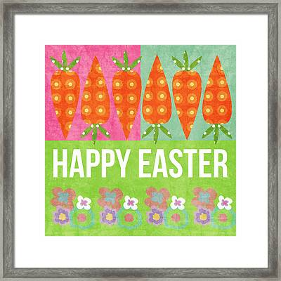 Happy Easter Framed Print by Linda Woods