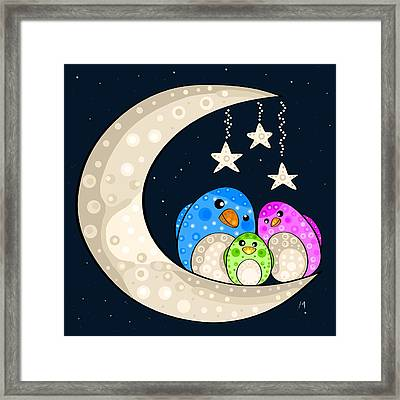 Happy Family Framed Print by Veronica Minozzi