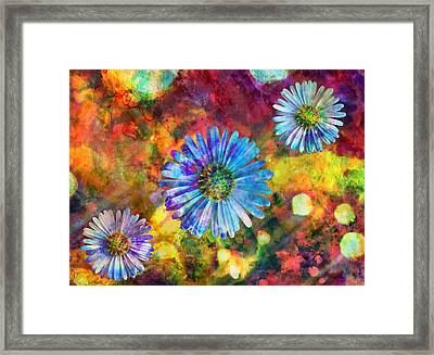 Happy Flowers Framed Print by Ally  White