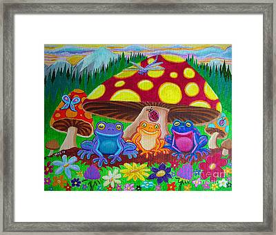 Happy Frog Meadows Framed Print by Nick Gustafson