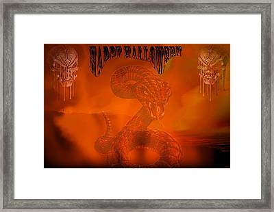 Happy Halloween 2 Framed Print by Evelyn Patrick