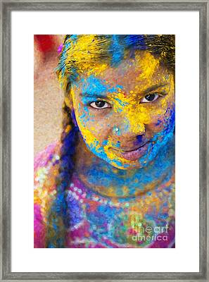 Happy Holi Framed Print by Tim Gainey