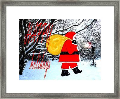 Happy Holidays 22 Framed Print by Patrick J Murphy
