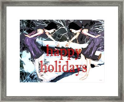 Happy Holidays 30 Framed Print by Patrick J Murphy