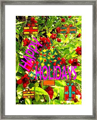 Happy Holidays 9 Framed Print by Patrick J Murphy