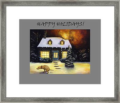 Happy Holidays Humor Framed Print by Leah Saulnier The Painting Maniac