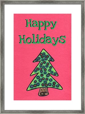 Happy Holidays Red Framed Print by Mandy Shupp