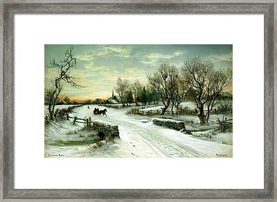Framed Print featuring the painting Happy Holidays by Travel Pics