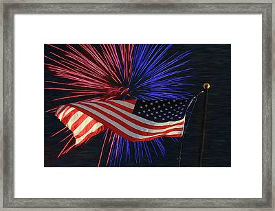 Happy Independence Day Framed Print by Donna Kennedy