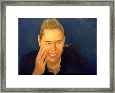 Happy Maria Framed Print by Peter Gartner