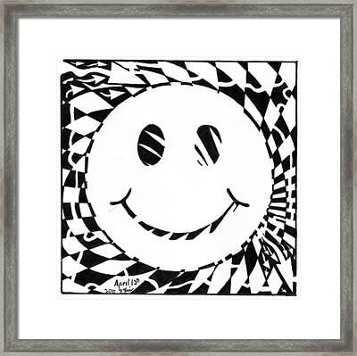 Happy Maze Framed Print by Yonatan Frimer Maze Artist