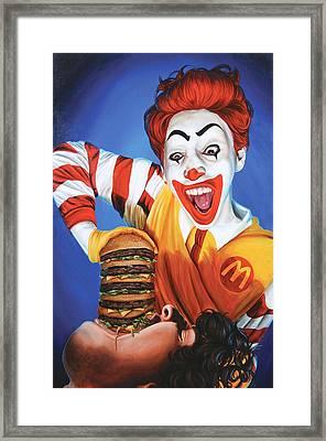Happy Meal Framed Print by Kelly Gilleran