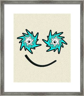 Happy Monster Framed Print by Anastasiya Malakhova