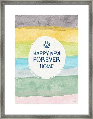 Happy New Forever Home- Art By Linda Woods Framed Print by Linda Woods