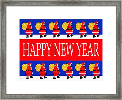 Happy New Year 7 Framed Print by Patrick J Murphy