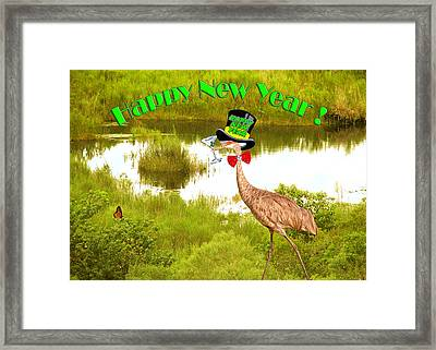 Happy New Year Card Framed Print by Adele Moscaritolo