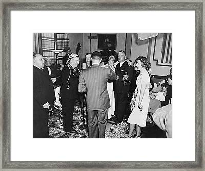 Happy New Year's Eve Party Framed Print by Underwood Archives