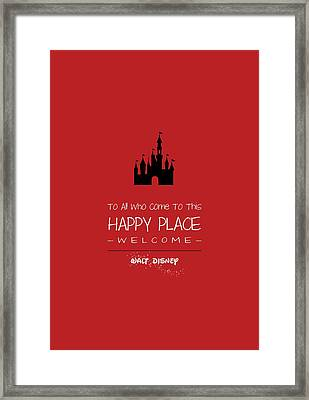 Happy Place Framed Print by Nancy Ingersoll
