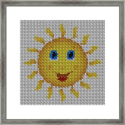 Happy Sun Image Knit Framed Print by Miroslav Nemecek