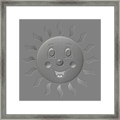 Happy Sun Metal Relief Framed Print by Miroslav Nemecek
