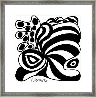 Happy Thanksgiving 2016 Abstract Black And White Art By Omashte Framed Print by Omaste Witkowski