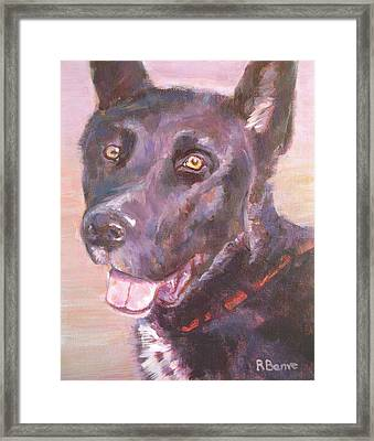 Happy To Be Here Framed Print by Robie Benve