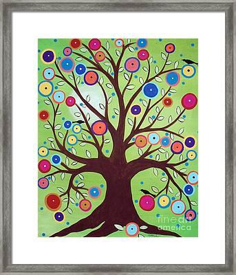 Happy Tree Framed Print by Karla Gerard