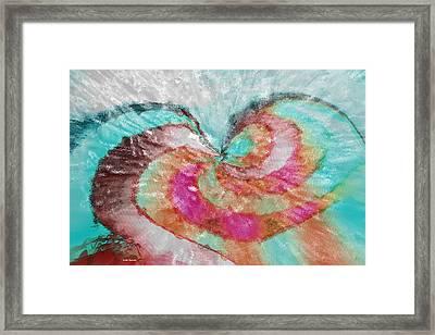 Happy Valentine's Day Framed Print by Linda Sannuti