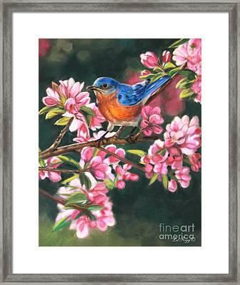 Harbingers Of Spring Framed Print by Deb LaFogg-Docherty
