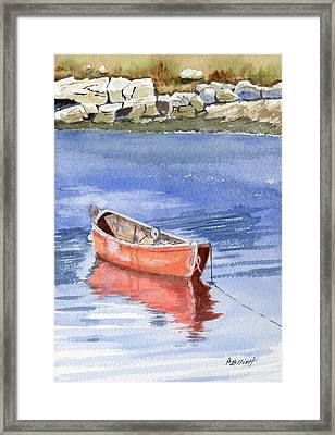 Harbor At Peggy's Cove Framed Print by Marsha Elliott