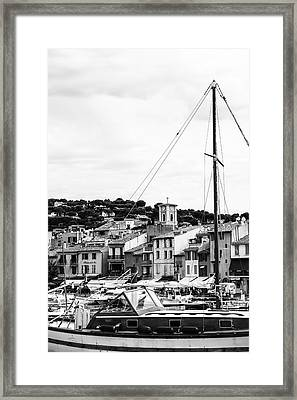 Harbor Boats In The South Of France Framed Print by Georgia Fowler
