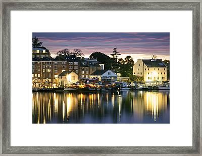 Harbor Lights Framed Print by Eric Gendron