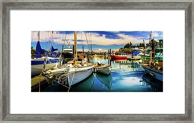 Harbor On Guemes Channel Framed Print by TL  Mair