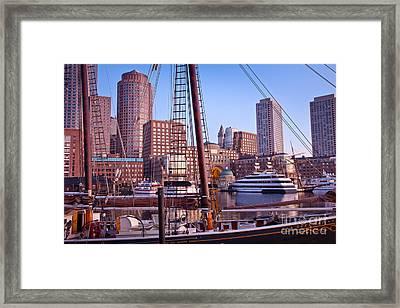 Harbor Sunrise Framed Print by Susan Cole Kelly