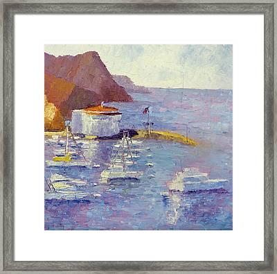 Harbor View Framed Print by Terry  Chacon