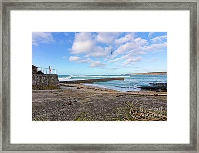 Harbour Picnic Sennen Cove Framed Print by Terri Waters