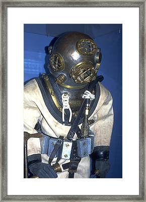 Hard Hat Diving Suit Framed Print by Carl Purcell