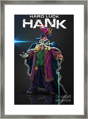 Hard Luck Hank--stank Delicious--back Framed Print by Steven Campbell