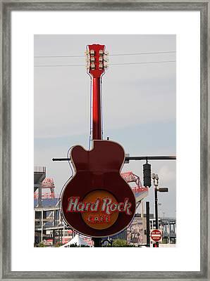 Hard Rock Cafe Nashville Framed Print by Susanne Van Hulst