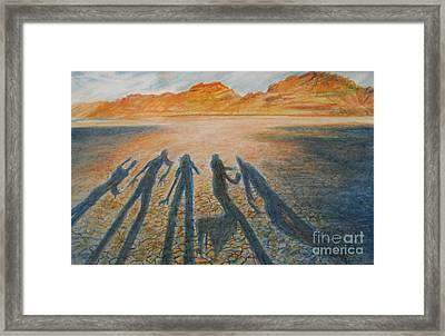 Hardpan Shadows Framed Print by Jeanette Skeem