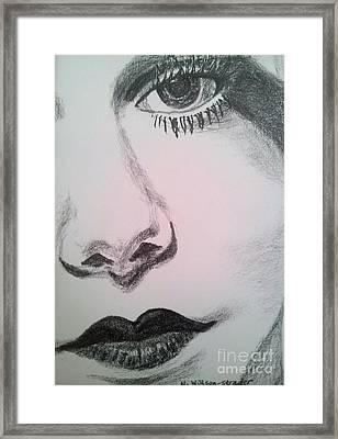 Harlean, Black And White Framed Print by N Willson-Strader