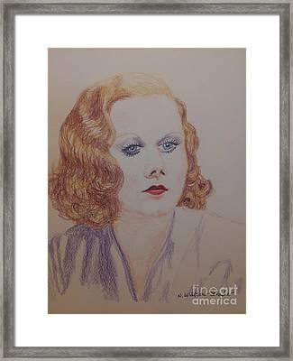 Harlean In Lavender Framed Print by N Willson-Strader