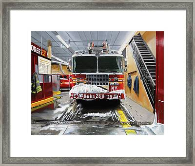 Harlem Hilton Ladder 28 Framed Print by Paul Walsh