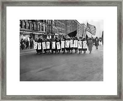 Harlem Protests The Scottsboro Verdict Framed Print by Everett