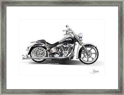 Harley Bike Framed Print by Alain Jamar