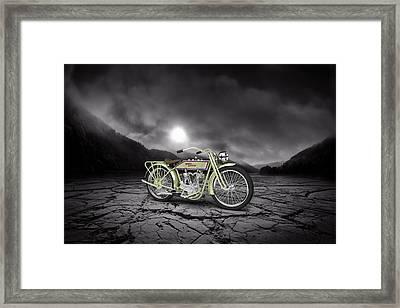 Harley Davidson 11j 1915 Mountains Framed Print by Aged Pixel