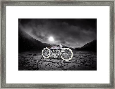 Harley Davidson 11k 1920 Mountains Framed Print by Aged Pixel