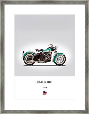 Harley-davidson Duo-glide Framed Print by Mark Rogan